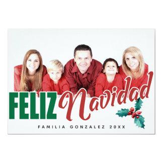 Feliz Navidad Photo Frame Card