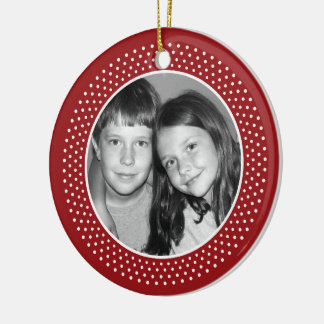 Feliz Navidad Photo Frame Ceramic Ornament