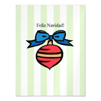Feliz Navidad Postcard Thin Magnetic Card Green