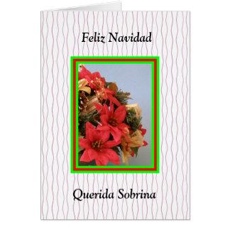 Feliz Navidad  Querida Sobrina Card