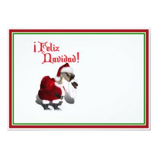 Feliz Navidad - Silly Santa Goose 13 Cm X 18 Cm Invitation Card