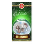 Feliz Navidad Snow Globe Personalised Photo Card