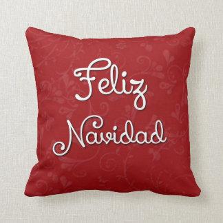 Feliz Navidad Spanish Christmas Pillow