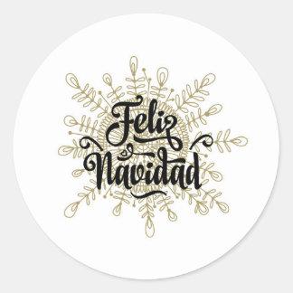 Feliz Navidad Spanish Christmas Stickers