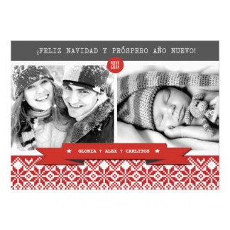 Feliz Navidad Spanish Custom Christmas Photo Cards
