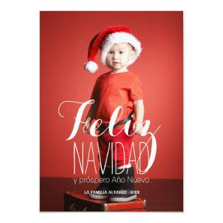 Feliz Navidad | Spanish Holiday Photo Card 13 Cm X 18 Cm Invitation Card