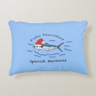 Feliz Navidad Spanish Mackerel Decorative Cushion