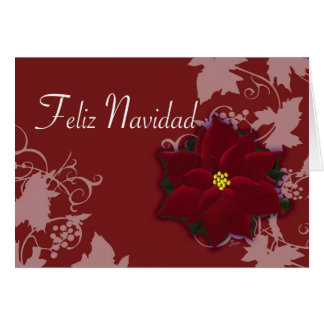 Feliz Navidad  tarjeta de Pascua Nochebuena Card
