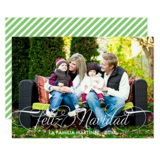 Feliz Navidad Tarjeta Fotográfica Escritura Blanca Card