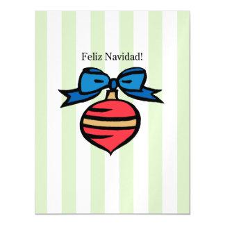 Feliz Navidad Thin Magnetic Postcard Green Magnetic Invitations