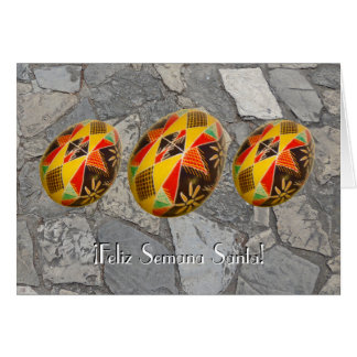 Feliz Semana Santa! Painted Egg  Spanish Greeting4 Card