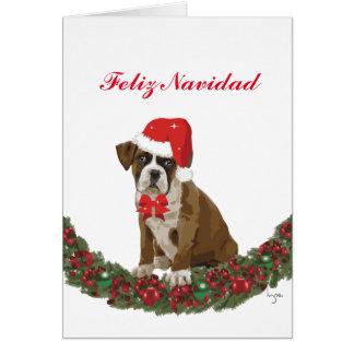 Felize Navidad lindo perro festivo Card