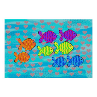Fell in love fish poster