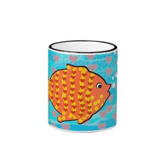 Fell in love fish ringer mug