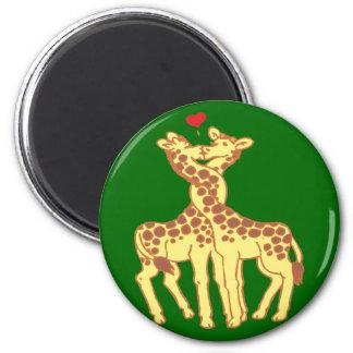 fell in love giraffes giraffes with love fridge magnet