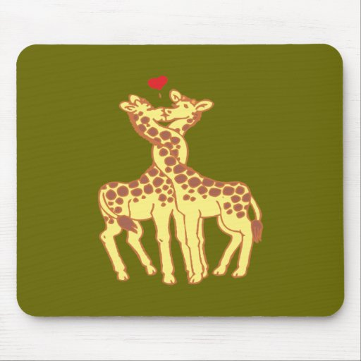 fell in love giraffes giraffes with love mousepad