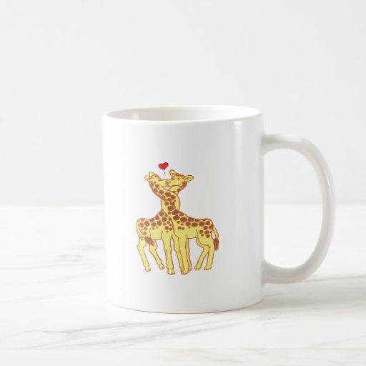 fell in love giraffes giraffes with love mug