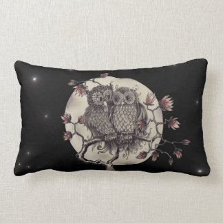 Fell in love owls - Owls with Love Throw Cushions
