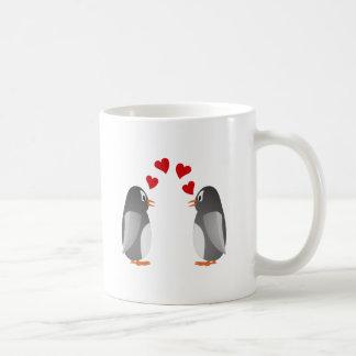fell in love penguins penguins love basic white mug