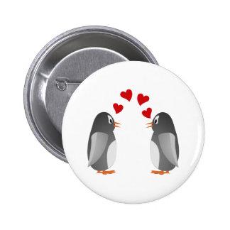 fell in love penguins penguins love button