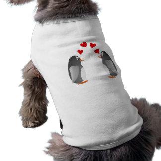 fell in love penguins penguins love doggie t shirt