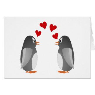 fell in love penguins penguins love greeting card