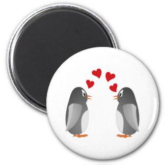fell in love penguins penguins love fridge magnets