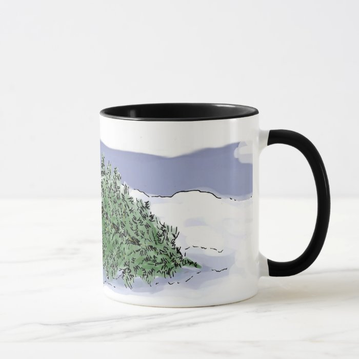 Felling the Holiday Tree Mug