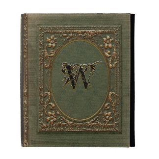 Fellowsbey Victorian Old Book Style Monogram iPad Folio Cases
