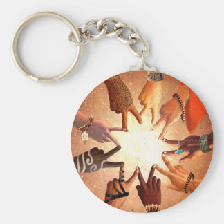 Fellowship Basic Round Button Key Ring