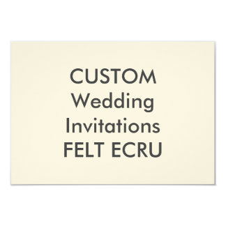 "FELT ECRU 110lb 5"" x 3.5"" Wedding Invitations"