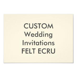"""FELT ECRU 110lb 6.25"""" x 4.5"""" Wedding Invitations"""