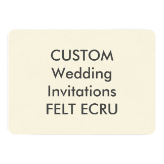 "FELT ECRU 110lb 7"" x 5"" Wedding Invitations"