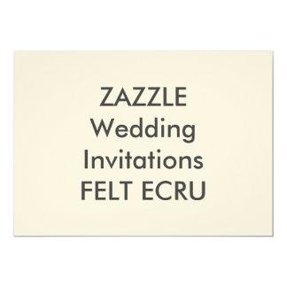 "FELT ECRU 7"" x 5"" Wedding Invitations"