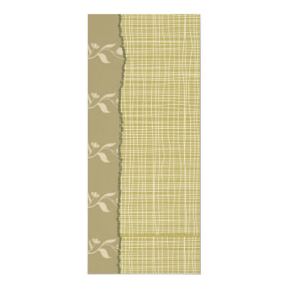 "Felt Paper 4"" x 9.25"" Special Event Soft Floral 4x9.25 Paper Invitation Card"