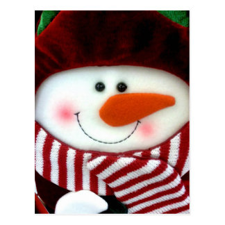 Felt Snowman Holiday Postcard