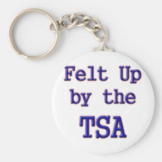 Felt Up by the TSA Basic Round Button Key Ring