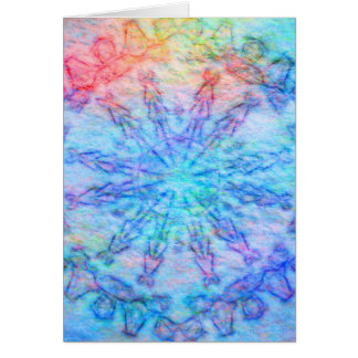 Felted tribal kaleidoscope vertical card