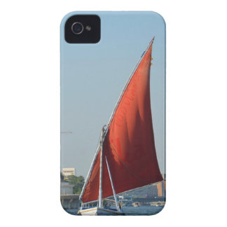 Felucca With Red Sail iPhone 4 Cases
