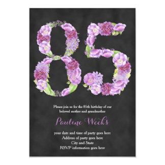 female 85th birthday invitations, lavender invites