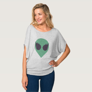 Female Alien Slouch Tee