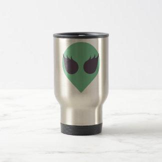 Female Alien Travel Mug