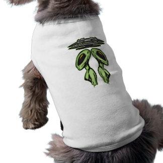 Female Aliens and UFO Sleeveless Dog Shirt
