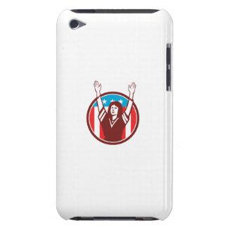 Female American Football Fan Circle Retro iPod Touch Case