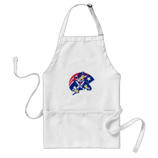 Female American Minuteman Holding Flag Retro Standard Apron