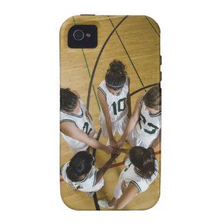 Female basketball team having group handshake, iPhone 4/4S cover