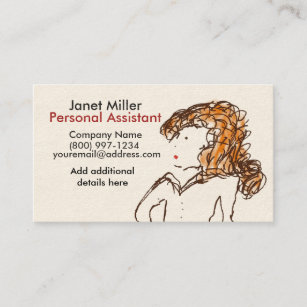 Office assistant business cards zazzle au female business cards colourmoves
