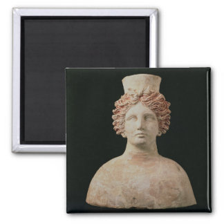 Female bust with kalathos from Ibiza, 5th century Square Magnet