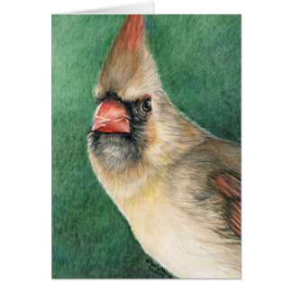 Female Cardinal Art Note Card