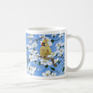 Female Cardinal in the Dogwoods Mugs